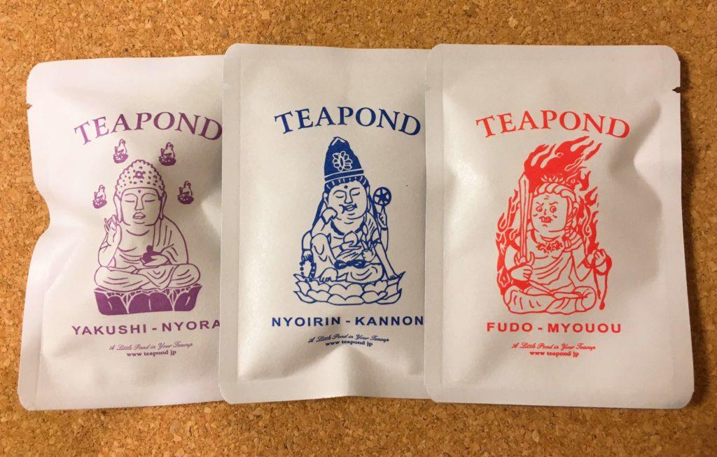 醍醐寺展グッズTEAPONDの紅茶