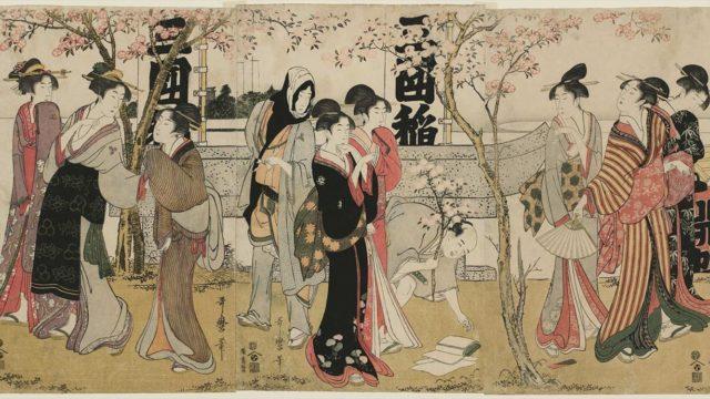 浮世絵『三囲神社の御開帳』