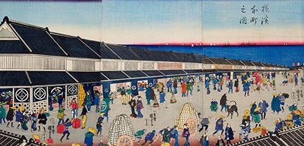 歌川国芳『横浜本町之図』