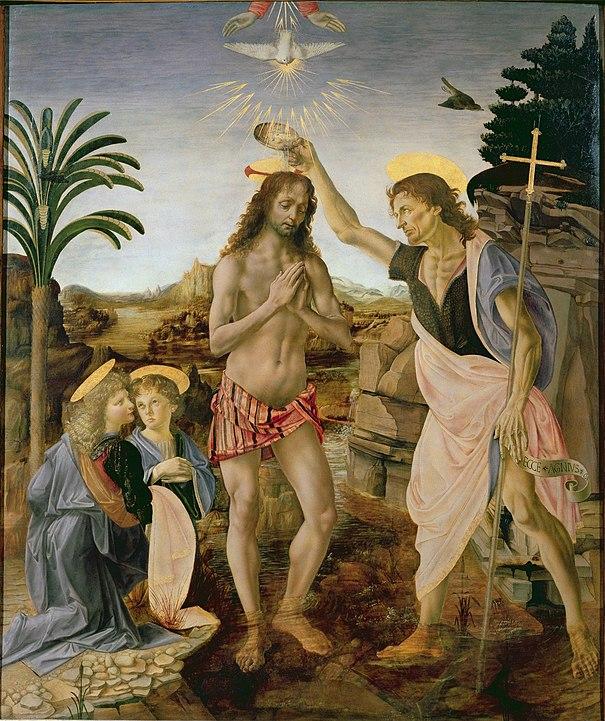 ヴェロッキオ『キリストの洗礼』