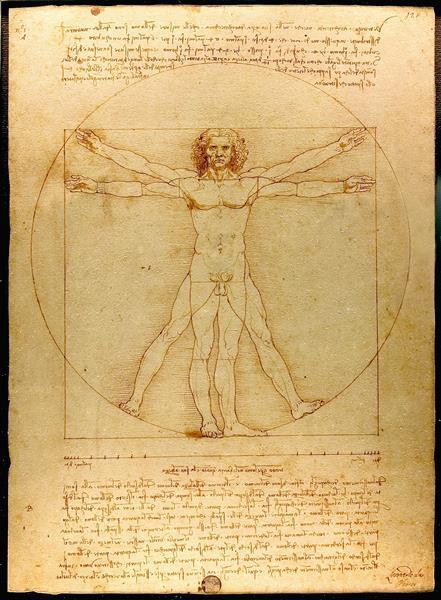 ダビンチ『ウィトルウィウス的人体図』