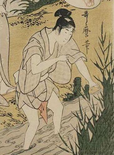 歌麿『蛍狩り』(部分)