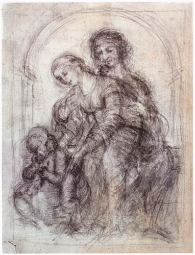 ダビンチ『聖母子と聖アンナ』