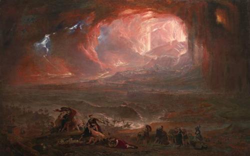 ジョン・マーティン『ポンペイとヘルクラネウムの壊滅』
