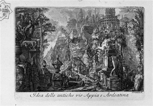 ピラネージ『古代アッピア街道とアルデアティーナ街道の交差点』