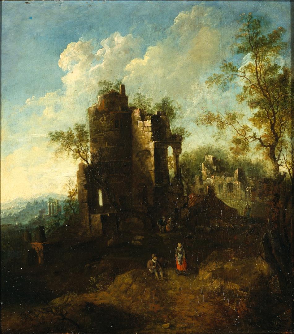 『廃墟の風景と人物』シャルル・コルネリス・ド・ホーホ