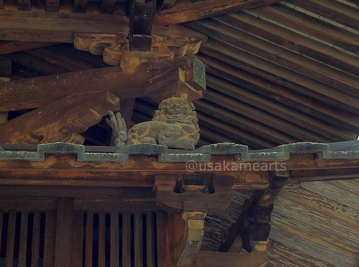 法隆寺の獅子